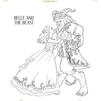 Beauty and the Beast Color Pages