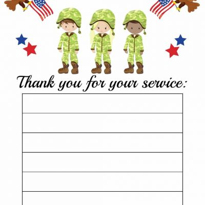 Thanks for Your Service Printable