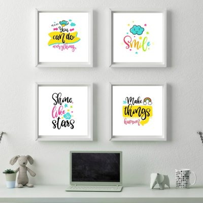 Printable Wall Art for Little Girls Room
