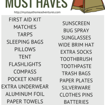 Frugal Camping Supply List