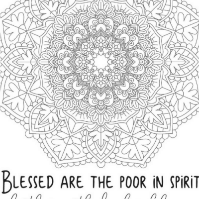 Free Printable Beatitude Coloring Pages