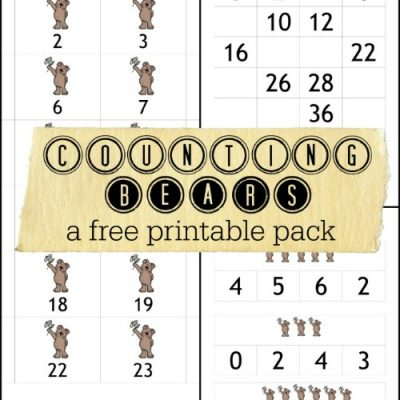 Counting Bears Math Printables
