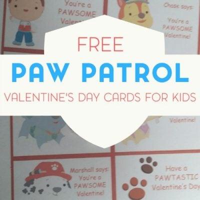 Paw Patrol Valentine's Day Cards