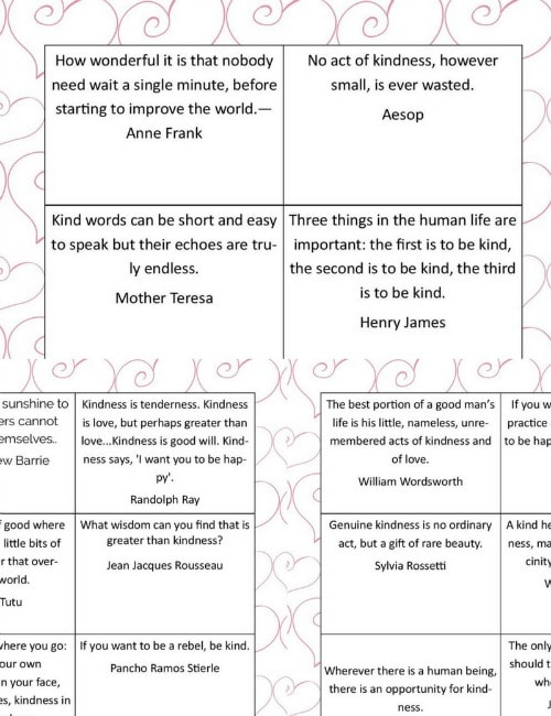 Printable Kindness Cards