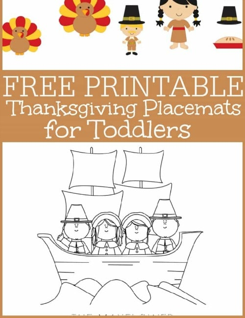 Thanksgiving Placemats for Toddlers