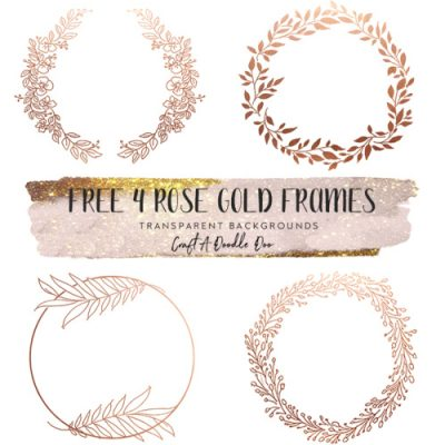 rose gold wreaths