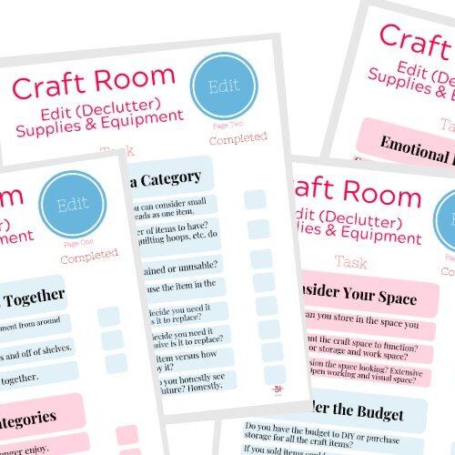 declutter your craft stash checklist