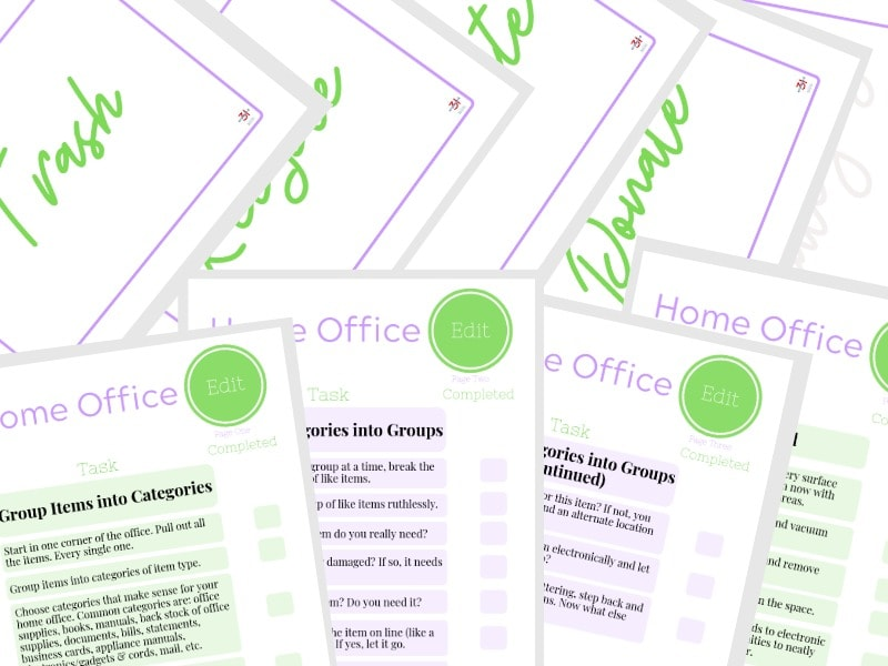 declutter your office checklist