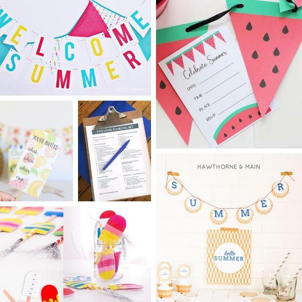 free beach party printables