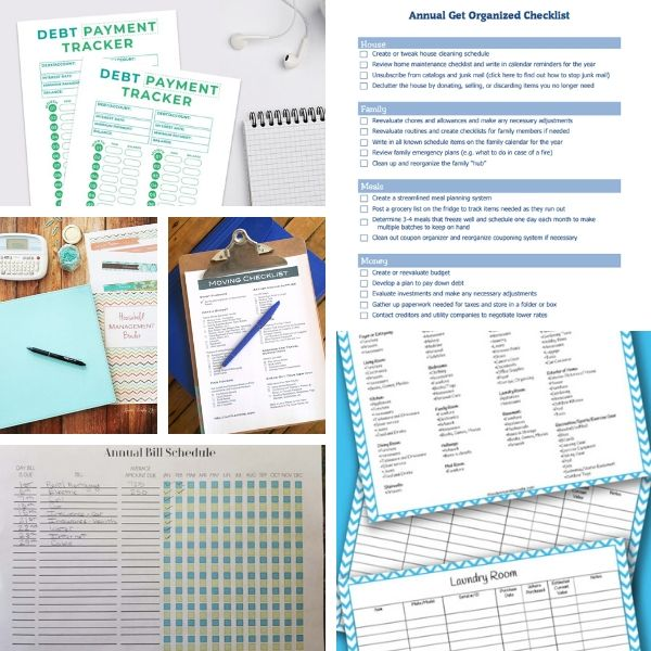 free home organization printables