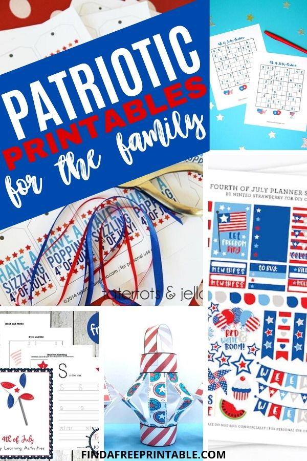 free Patriotic printables for the whole family