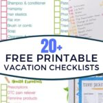 free printable vacation packing lists