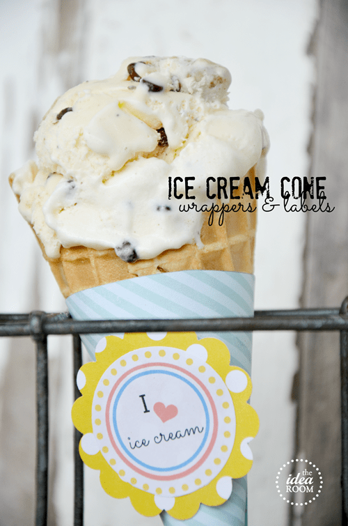 Ice Cream Cone Printable Wrappers