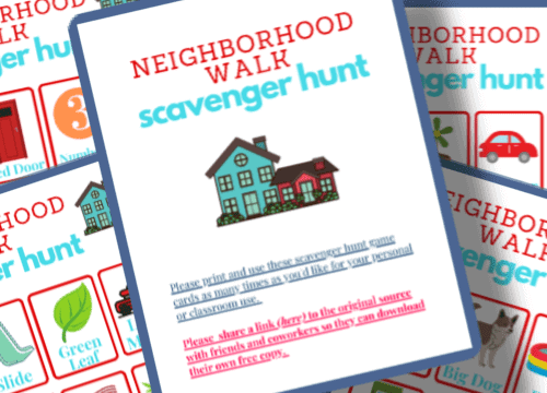 neighborhood scavenger hunt for kids