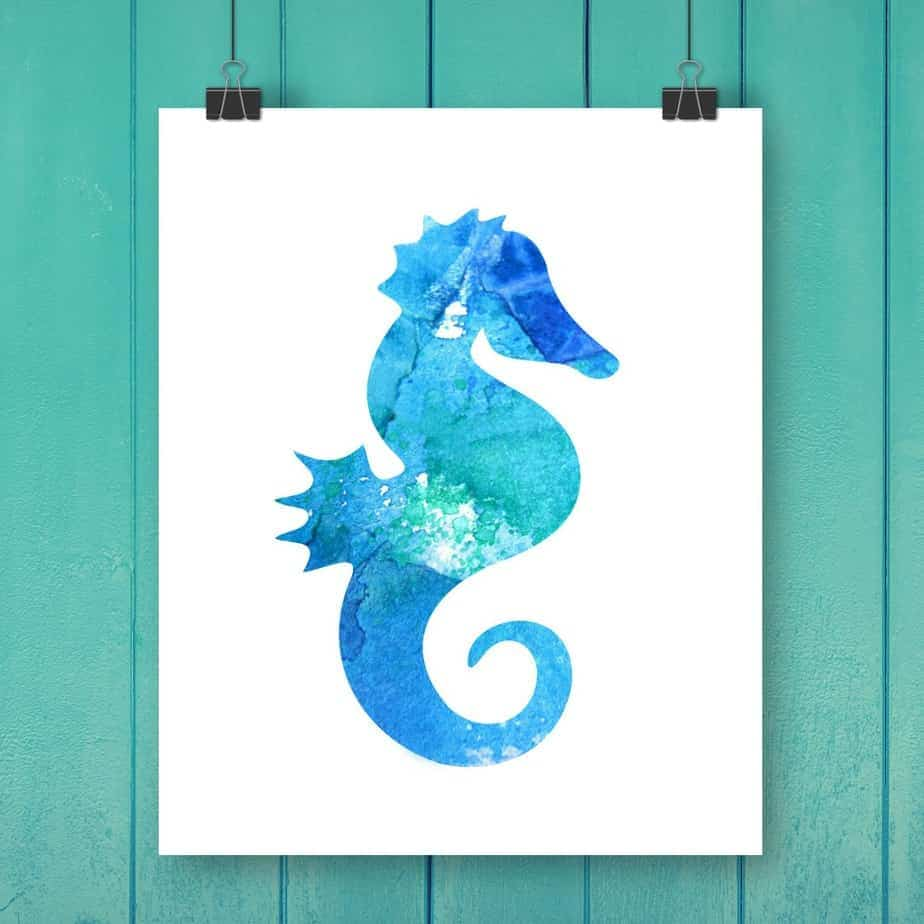 Watercolor Beach Printables