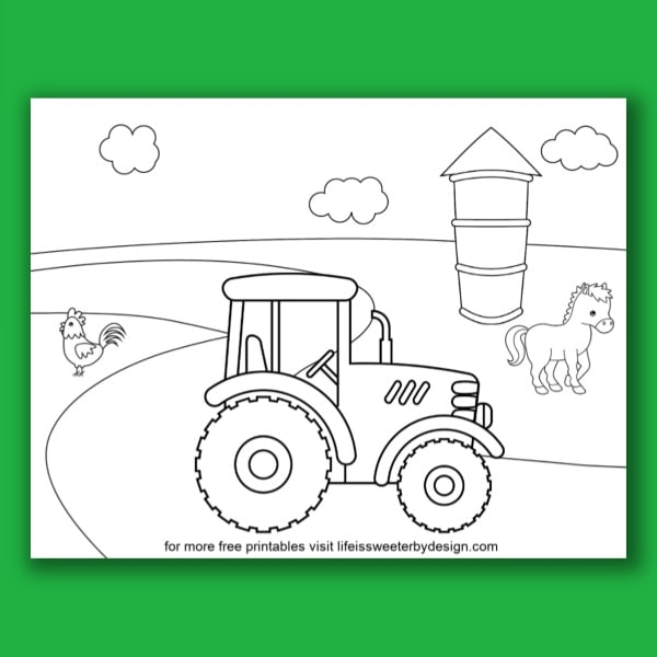 Tractor Coloring Pages - Find A Free Printable
