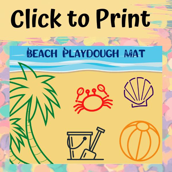 Beach Play dough Mat for Kids
