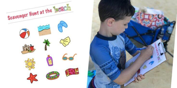 Beach Scavenger Hunt Printable