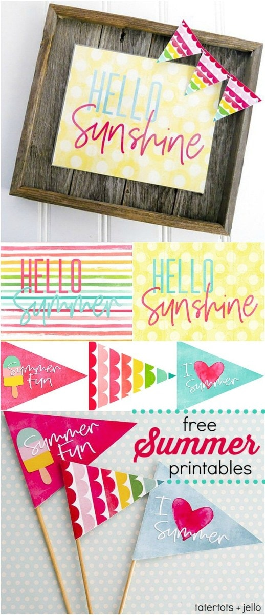 Beach Party Printable Sign, Pennants and More