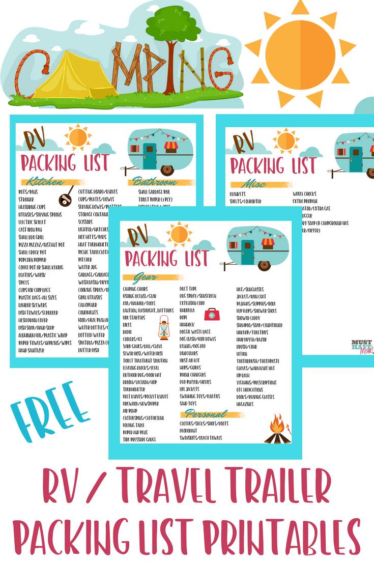 RV Packing Checklist