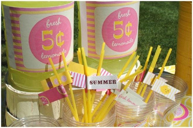 Pink Lemonade Printables