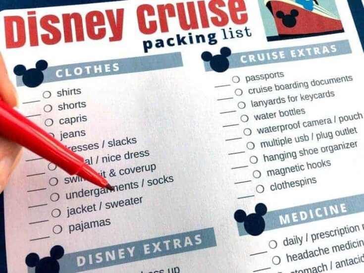 What to Pack for Your Disney Cruise