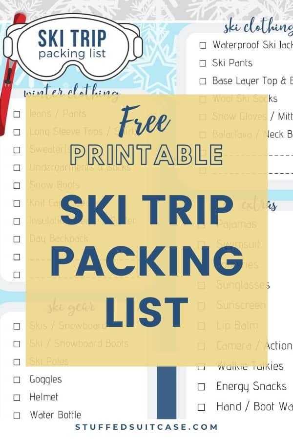Ultimate Ski Trip Packing List