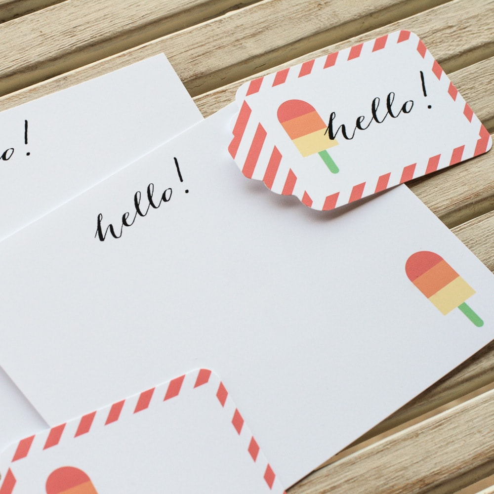 Popsicle Stationary Printables