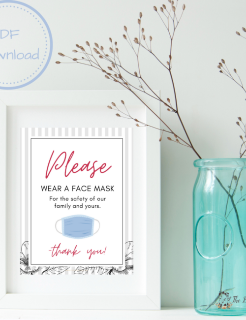 printable wear a mask signs