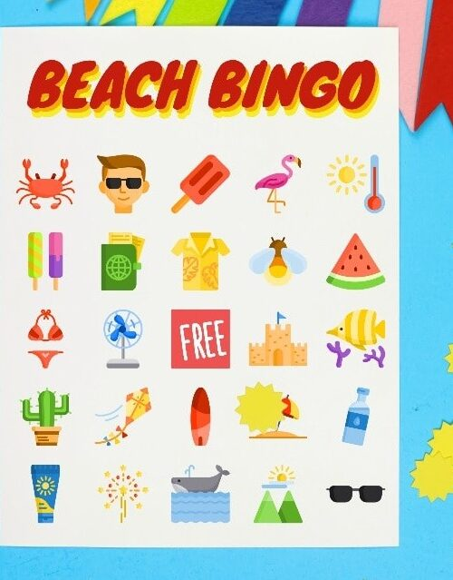 beach bingo game