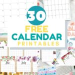 free blank monthly calendar printables