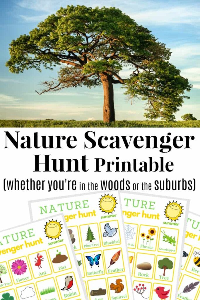 printable nature scavenger hunt