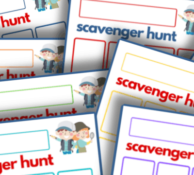printable scavenger hunt templates