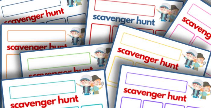 printable scavenger hunt templates