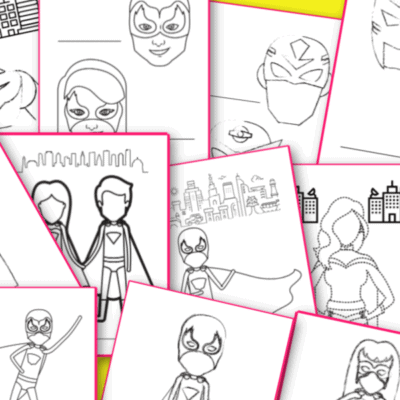 free printable superhero coloring pages