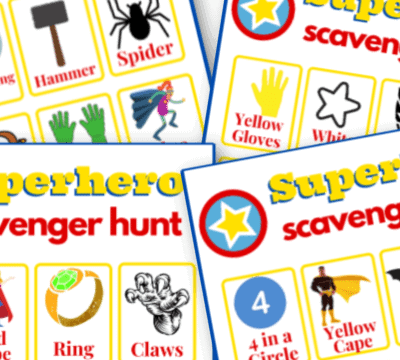 free printable superhero scavenger hunt