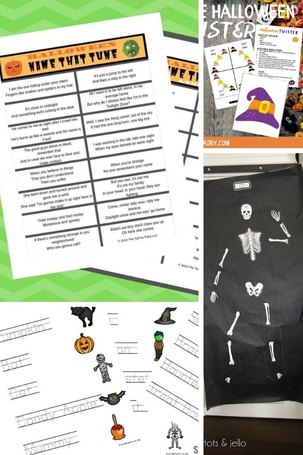 free printable Halloween games and activities