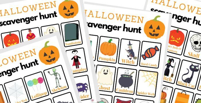 printable Halloween Scavenger Hunt
