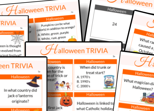 printable Halloween trivia questions