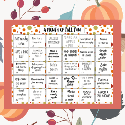 printable calendar of fall activities