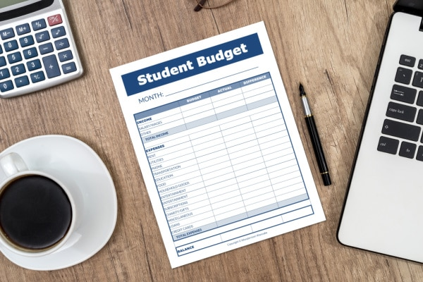 college student budget template printable