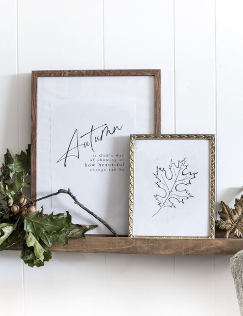 leaves of change printable fall decor