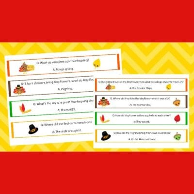 printable Thanksgiving jokes napkin rings