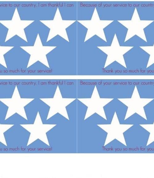 free printable Thank a Veteran Cards