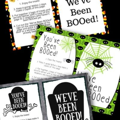 printable You've Been Booed Signs