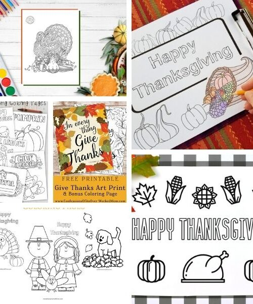 free printable Thanksgivingn coloring pages