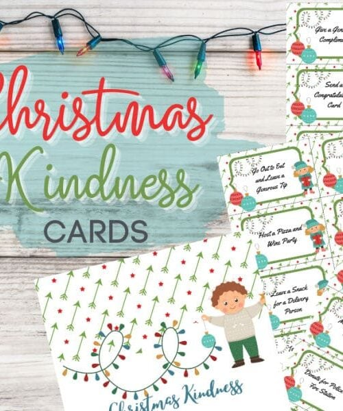 printable Christmas kindness cards