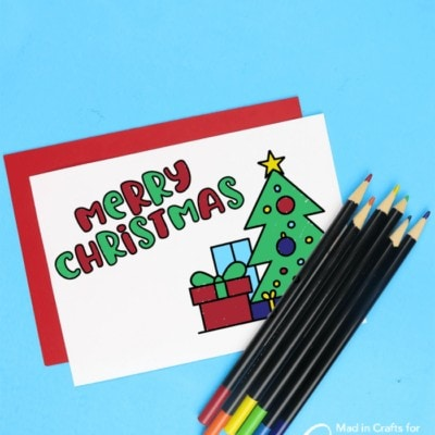 printable Christmas coloring cards