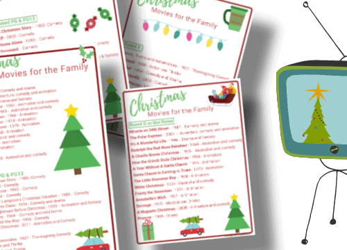 best family Christmas movies printable guide