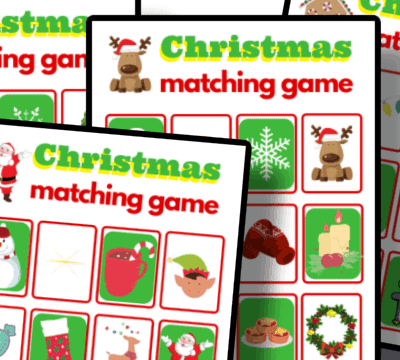 free printable Christmas Memory Matching Game